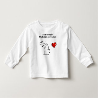 Someone In Michigan Loves Me Toddler T-shirt
