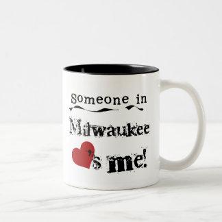 Someone in Milwaukee Two-Tone Coffee Mug