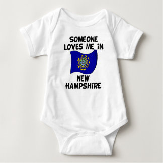 Someone In New Hampshire Loves Me Baby Bodysuit