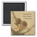 Someone In New Jersey Loves You-Beach Shells Magnets