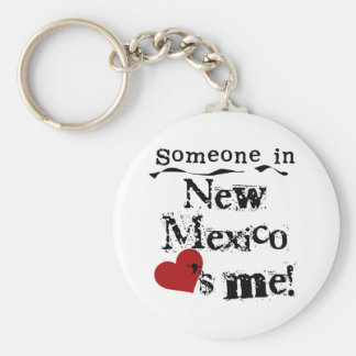 Someone In New Mexico Loves Me Keychain