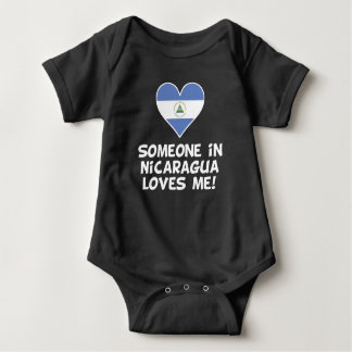 Someone In Nicaragua Loves Me Baby Bodysuit