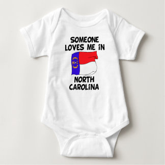 Someone In North Carolina Loves Me Baby Bodysuit