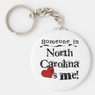 Someone In North Carolina Loves Me Basic Round Button Keychain