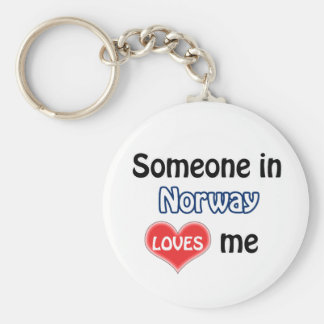 Someone in Norway Loves me Basic Round Button Keychain