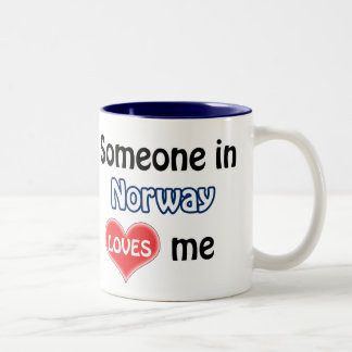 Someone in Norway loves me Two-Tone Coffee Mug