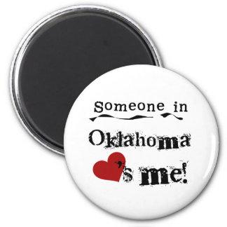 Someone In Oklahoma Loves Me Magnet