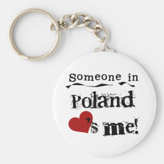 Someone In Poland Loves Me Keychain