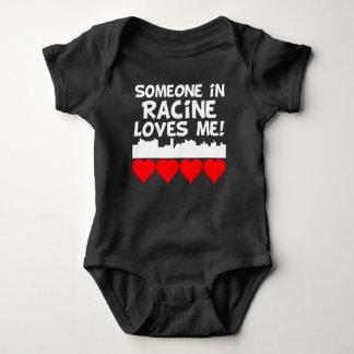 Someone In Racine Wisconsin Loves Me Baby Bodysuit