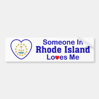 Someone In Rhode Island Loves Me Bumper Sticker