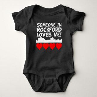 Someone In Rockford Illinois Loves Me Baby Bodysuit