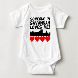Someone In Savannah Georgia Loves Me Baby Bodysuit