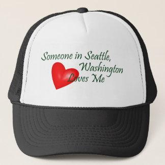 Someone In Seattle Loves Me Trucker Hat