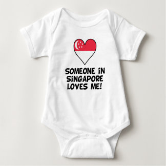 Someone In Singapore Loves Me Baby Bodysuit