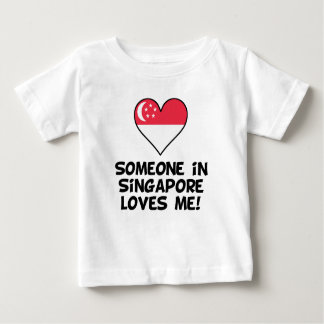 Someone In Singapore Loves Me Baby T-Shirt