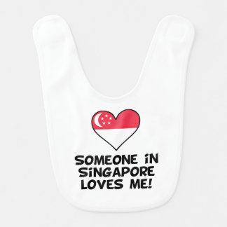 Someone In Singapore Loves Me Bib