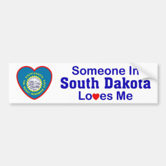 Someone In South Dakota Loves Me Bumper Sticker