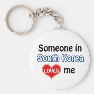 Someone in South Korea Loves me Basic Round Button Keychain