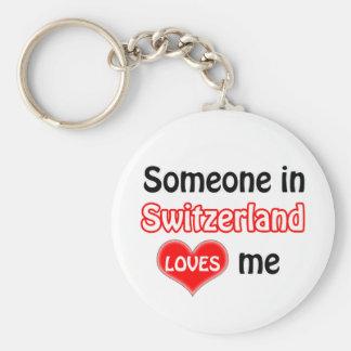 Someone in Switzerland Loves me Keychain