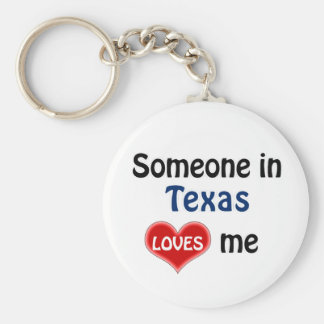 Someone in Texas Loves me Basic Round Button Keychain