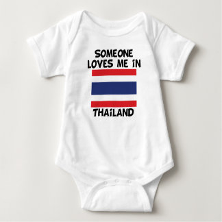 Someone In Thailand Loves Me Baby Bodysuit