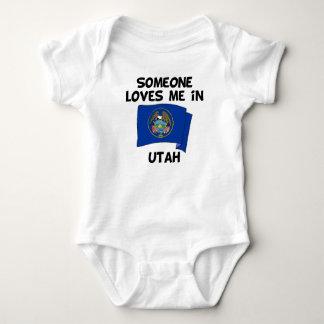 Someone In Utah Loves Me Baby Bodysuit