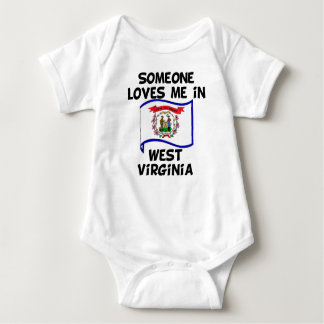 Someone In West Virginia Loves Me Baby Bodysuit