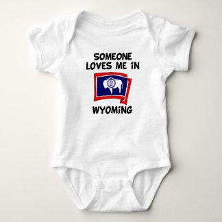 Someone In Wyoming Loves Me Baby Bodysuit