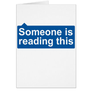 Someone is reading card
