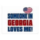 SOMEONE LOVES ME IN GEORGIA POSTCARD