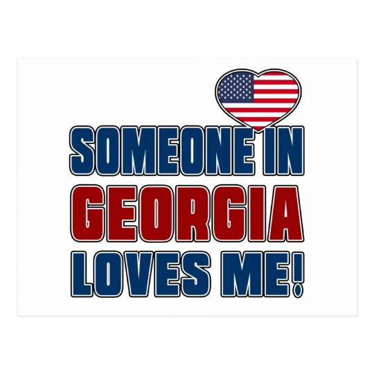 SOMEONE LOVES ME IN GEORGIA POSTCARD