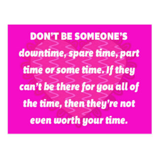 Someone's Downtime Quote Postcard