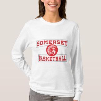 Somerset Spartan Basketball Long-sleeve Womens T-Shirt