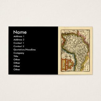 """""""Somersetshire"""" Somerset County Map, England Business Card"""