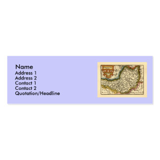 """""""Somersetshire"""" Somerset County Map, England Mini Business Card"""