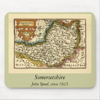 """""""Somersetshire"""" Somerset County Map Mouse Pad"""