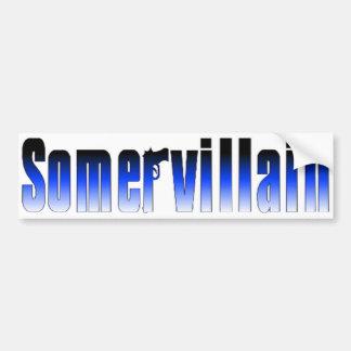 Somervillain Blue Bumper Sticker