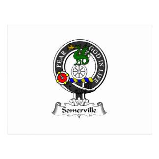 Somerville Clan Crest Postcard