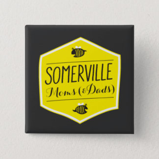 Somerville Moms Logo Button Black