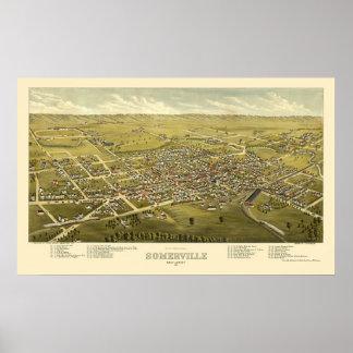 Somerville, NJ Panoramic Map - 1882 Poster