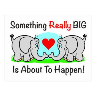 """Something Big"" Postcard"