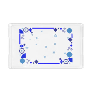 Something Blue Acrylic Tray