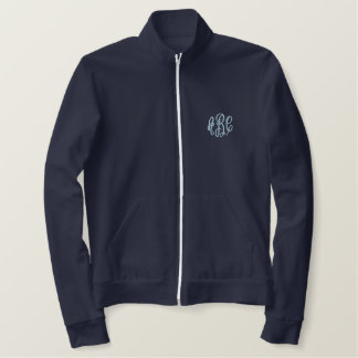 Something Blue and Navy Monogram Embroidered Jacket