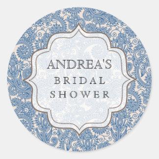 Something Blue Bridal Shower Dessert Tag Label