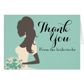 Something Blue bridal shower thank you card