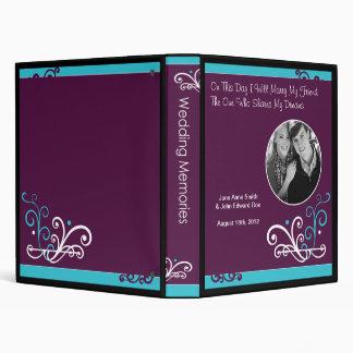 Something Blue Purple Scroll Wedding Memory Book 3 Ring Binders
