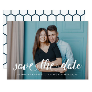 Something Blue Save the Date Photo Card