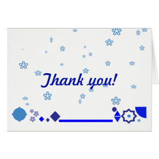 Something Blue Thank You Card
