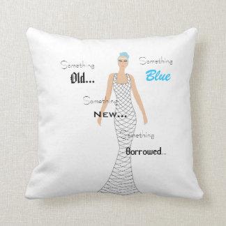 Something Blue Throw Pillow