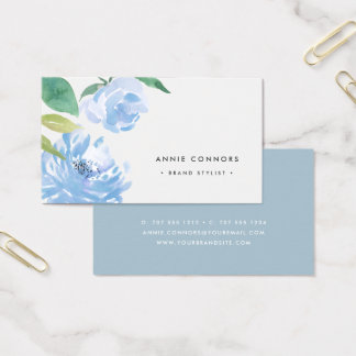 Something Blue | Watercolor Floral Business Card